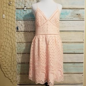 Abercrombie & Fitch NWT Pink Crochet Dress Size Lg